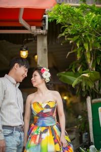 美國村街頭婚紗照