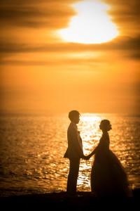 黃昏夕陽婚紗照